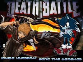Death Battle Ichigo Vs Sonic Werehog Form by Stormtali