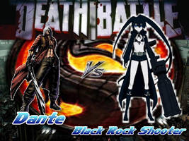 Death Battle Dante Vs Black Rock Shooter by Stormtali