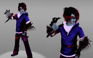 Creepypasta OC: Dark Travis (Shadelock) by Stormtali