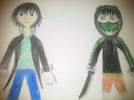 CREEPYPASTA OCS: Travis Vs Xille by Stormtali