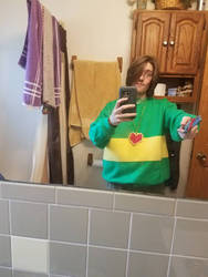 Halloween Costume 2017: Chara from Undertale by Stormtali