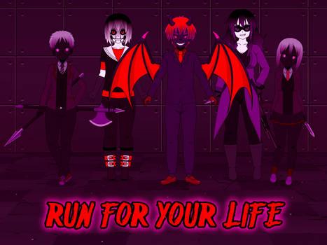 Spooptober Art 3 - Run for Your Life