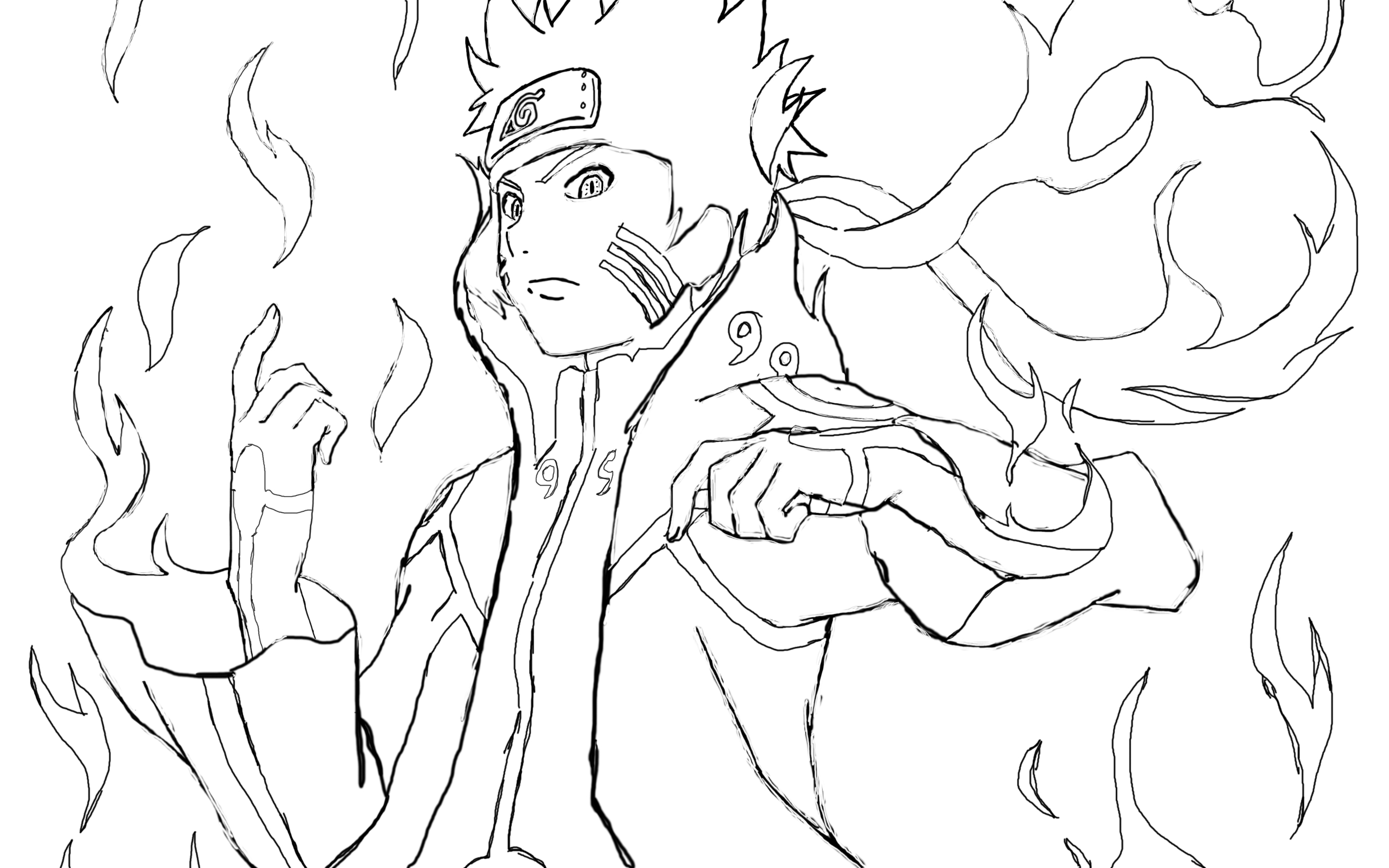 Naruto Bijuu Mode {WiP} by HollowVlad on DeviantArt