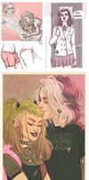 teen Ruca and Olly art dump
