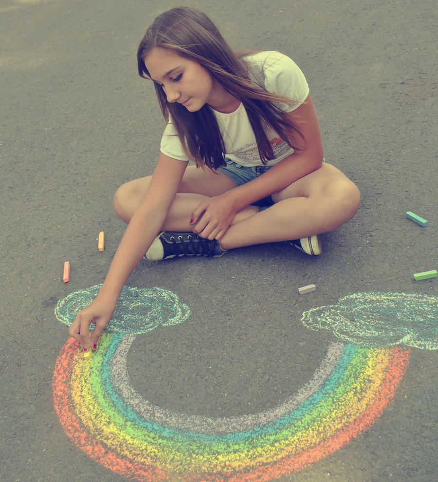draw me... rainbow by kannus-maoo