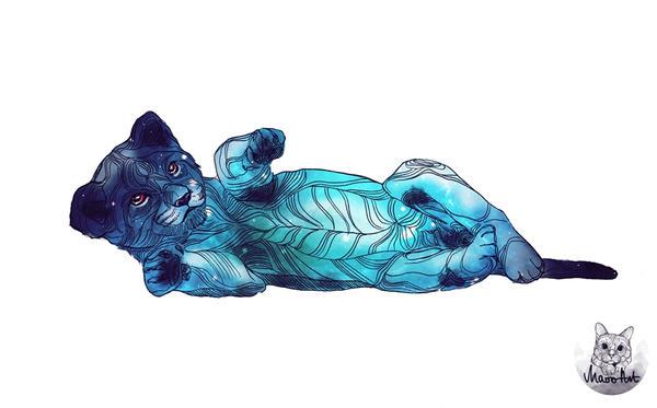 galaxy cat by kannus-maoo