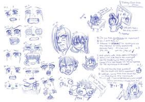 Sad Faces by RemiLatour