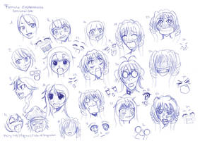 Female_Expressions_reference_sheet 17_08_14 by RemiLatour