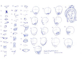 Reference-sheet:Mouth-placement Fairy Tail by RemiLatour