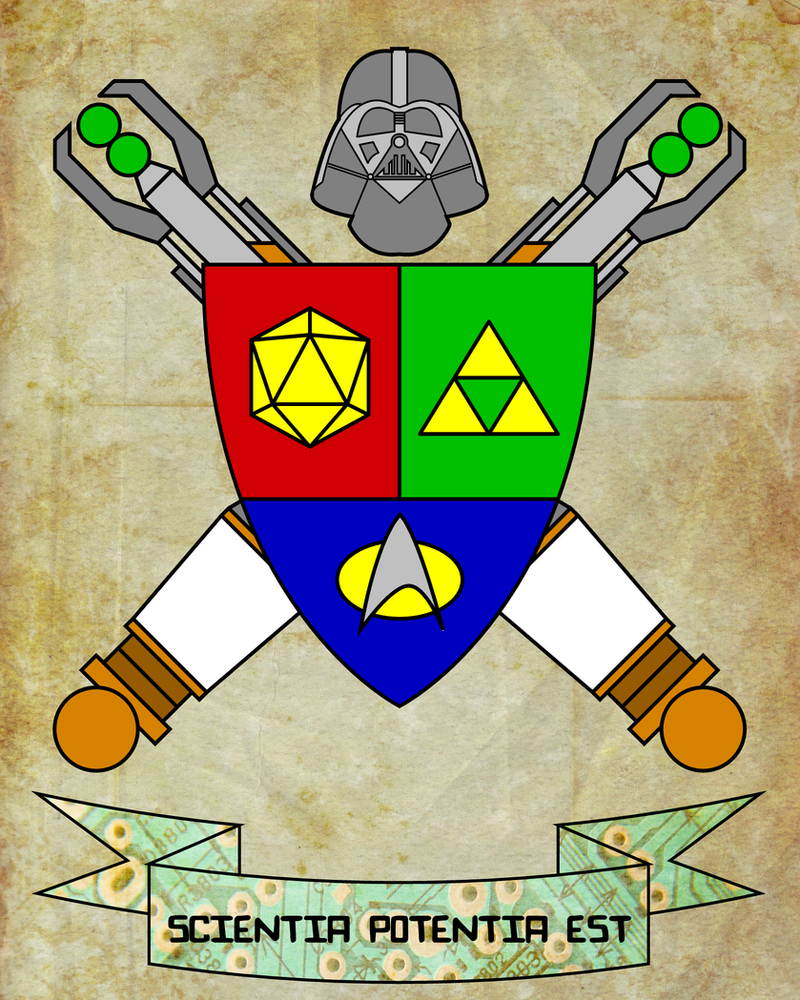 Geeky Coat Of Arms by Lokabrenna-89