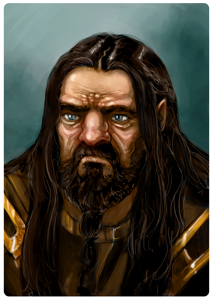 LOTR - Dwarf portrait- Color by fifoux