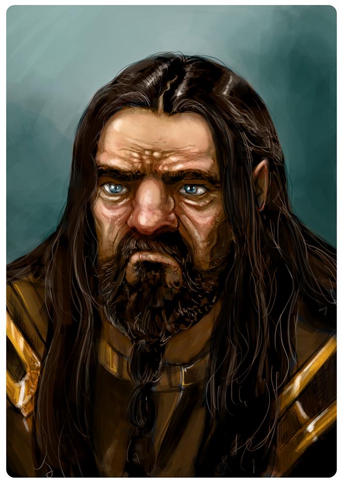 LOTR - Dwarf portrait- Color by fifoux
