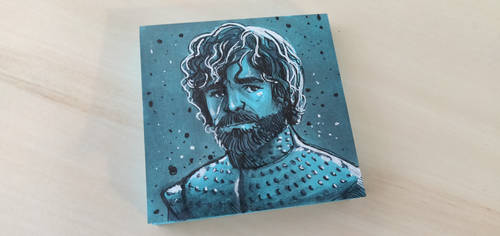 Tyrion Lannister post-it sketch