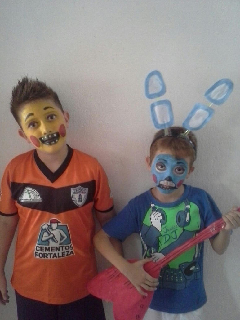 toy bonnie and toy chica boys cosplay by yulisabrambila