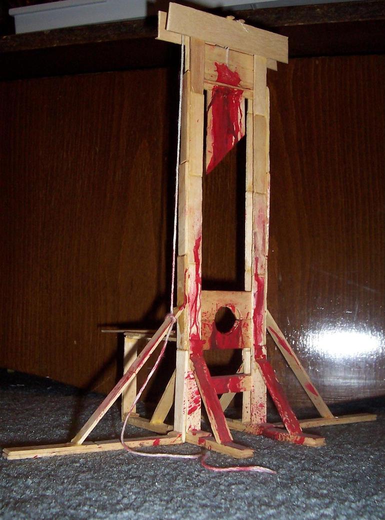 Femdom penis guillotine