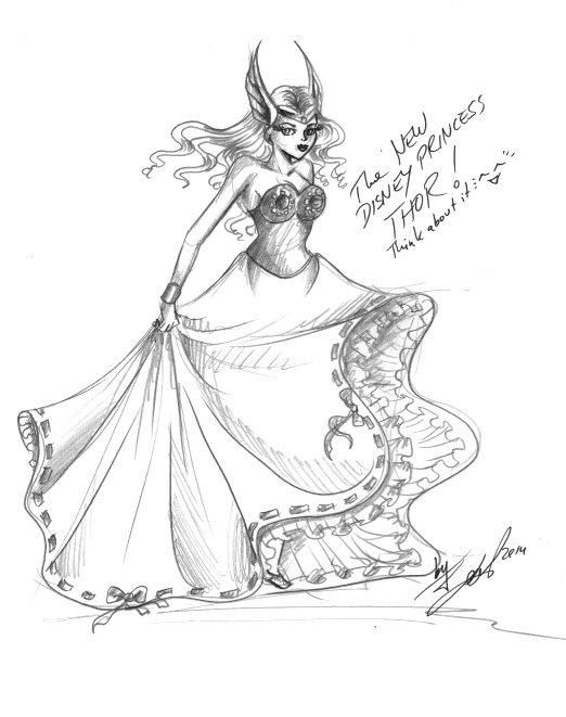 Thor disney loelNew Disney Princess Thor by LoelJGrey