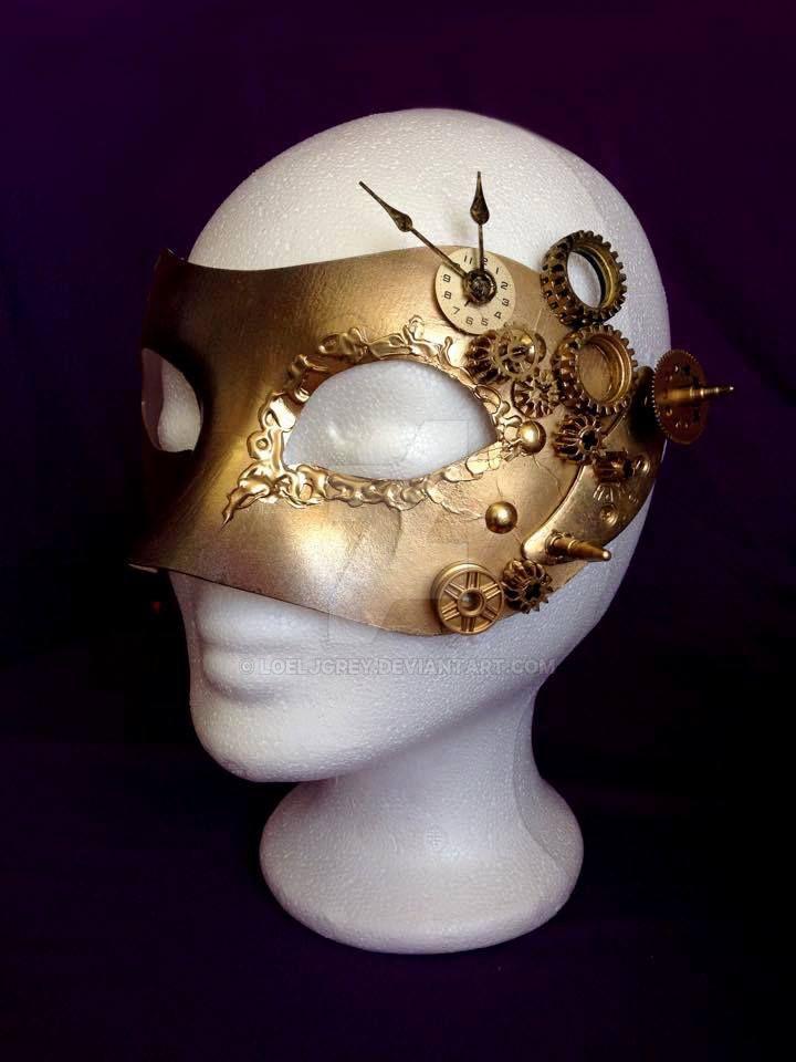 Steampunk mask by LoelJGrey