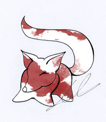 Watercolor Fox 03