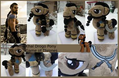Khal Drogo Pony - MLP Plushie Contest