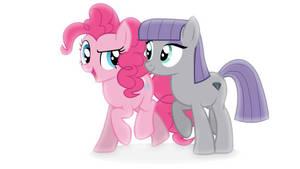 Pinkie and Maud Pie