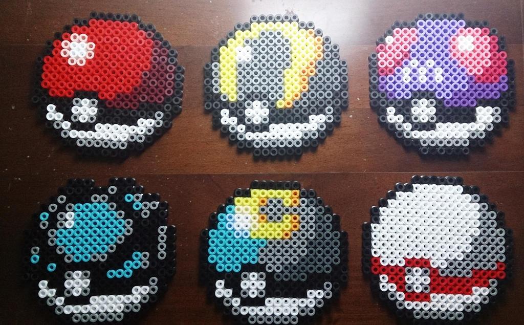 Pokeballs perler beads [part 1] #11 by isaletheia