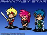 Phantasy Star 4 chibis