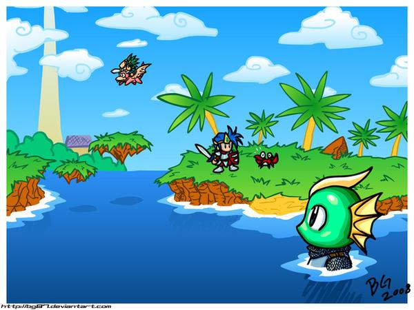 MW Beach doodle by BG87