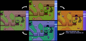2D Zelda Day/Night Cycle