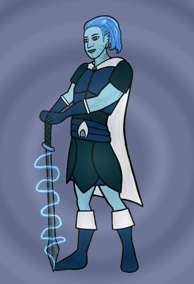 Gaerandir the Genasi Swordmage by Roseweave