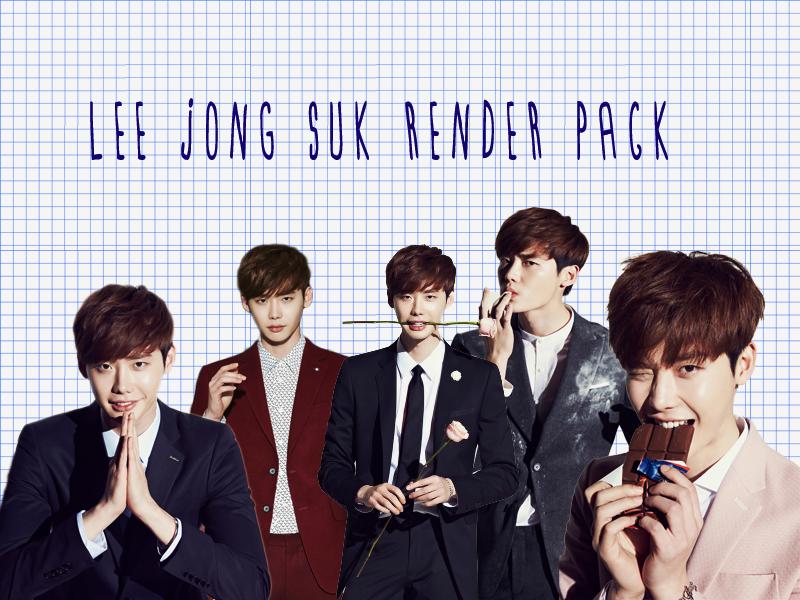 Pack PNG #12 Lee Jong Suk by XieraaaPark