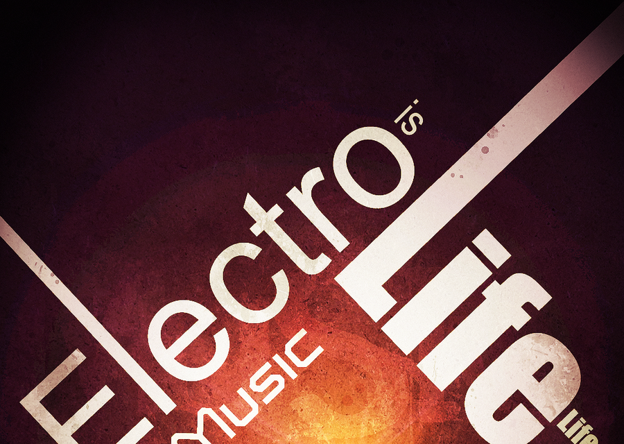 Electro music is Life by MeuhMeuhh I Love Typography #2