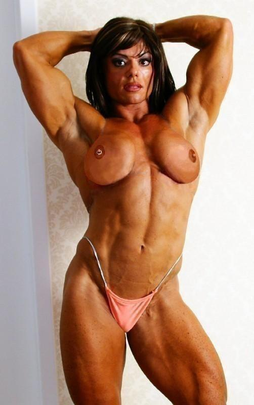 SUPER redhead bodybuilder woman nude lovely body