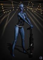 Bad Blue Lady by BarbDBarb