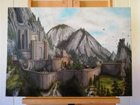 Kaer Morhen On Canvas