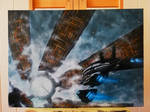 Normandy and Citadel on Canvas by BarbDBarb