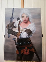 Ciri (Witcher) on Canvas by BarbDBarb