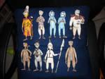 Cast of 9 Figurines