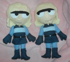 The Twins Chibi Plushes by DonutTyphoon