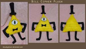 Bill Cipher Plush by DonutTyphoon