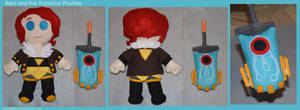Red and the Transistor Plushies by DonutTyphoon