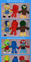 DHMIS:  Main Puppet Trio Plushies