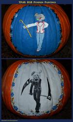 RGB Pumpkin Paintings
