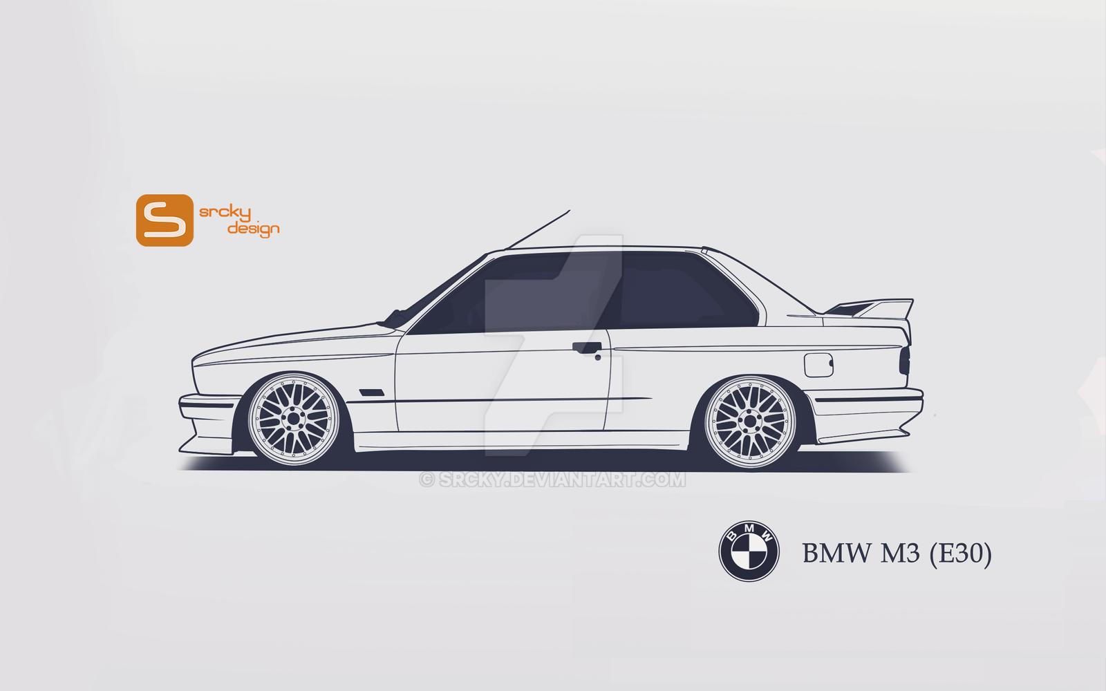 E30 Side View >> BMW M3 (E30) by SrCky on DeviantArt