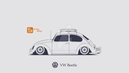 VW Beetle LineArt
