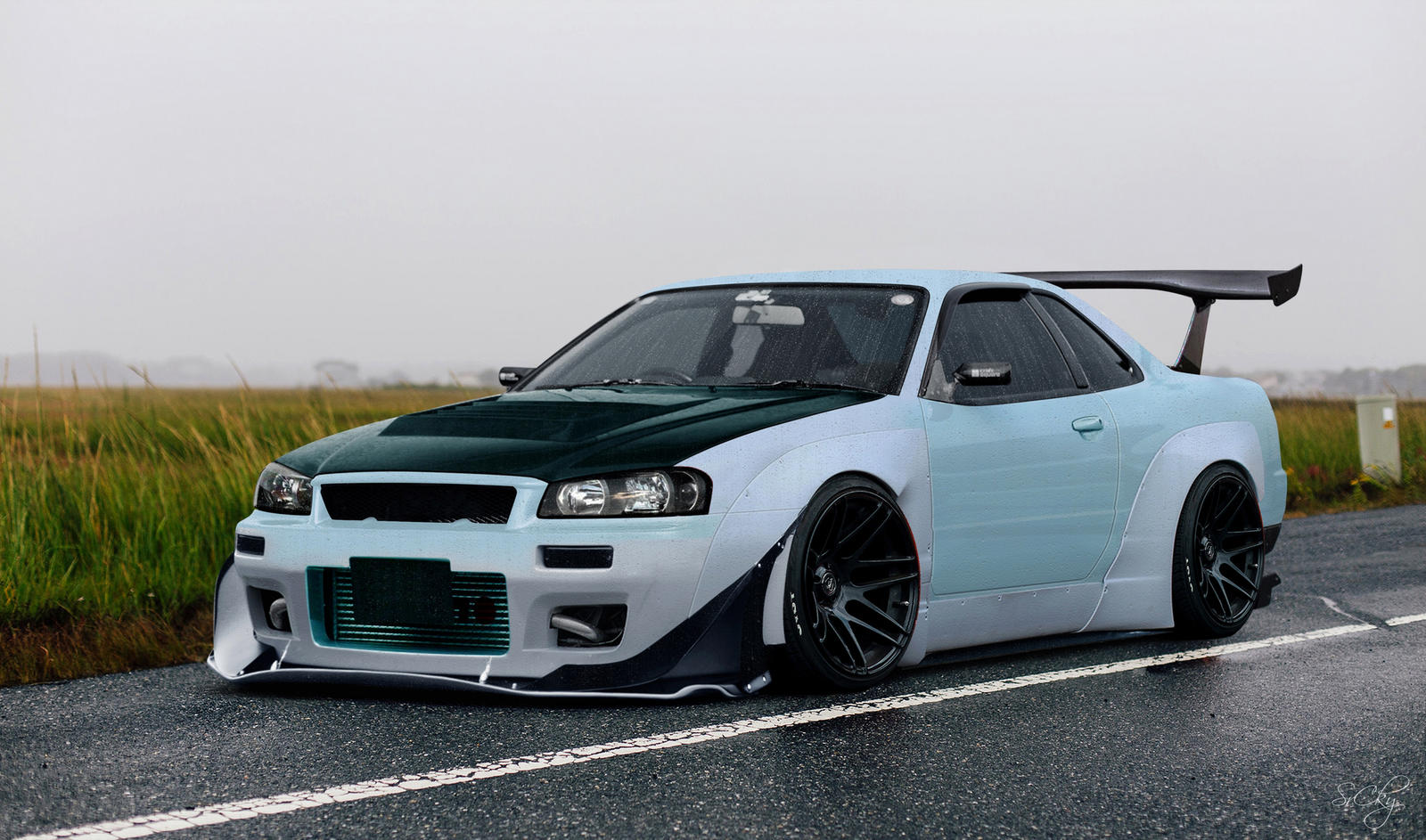 nissan skyline r34 body kit by srcky on deviantart. Black Bedroom Furniture Sets. Home Design Ideas