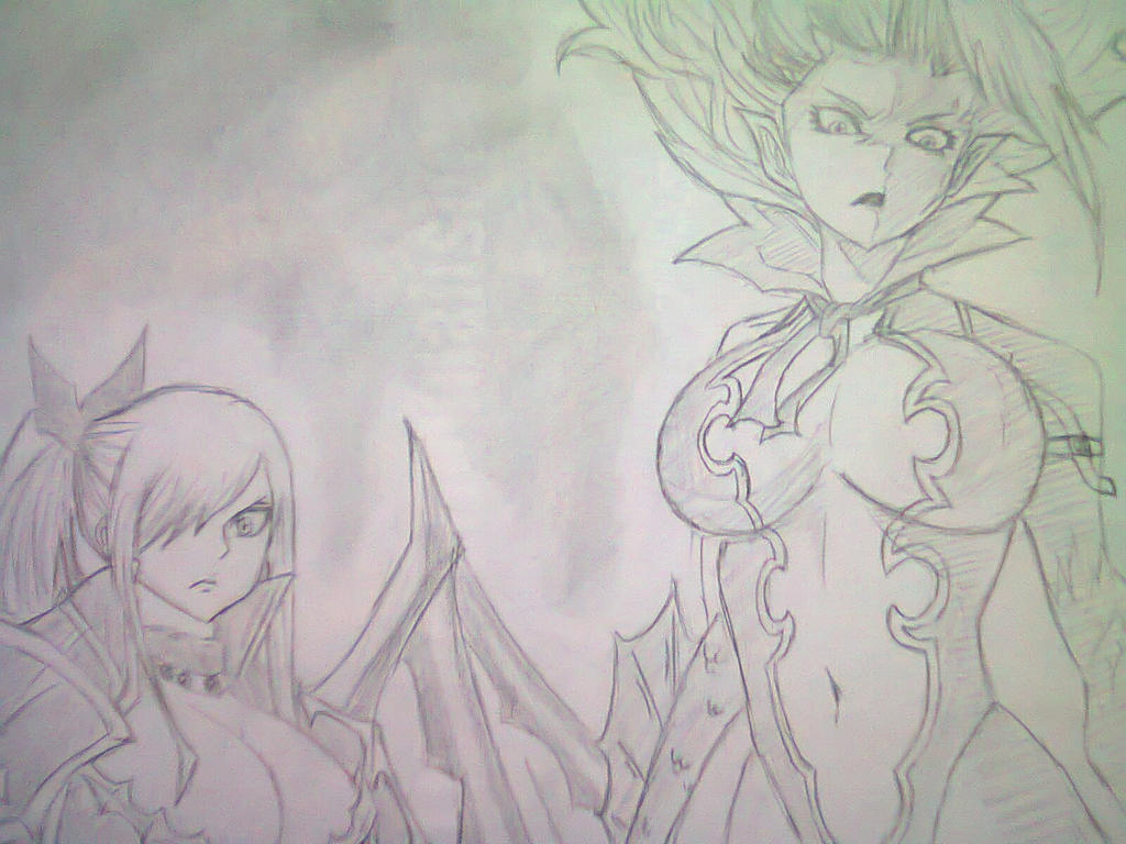 Erza and Mira by edgarmiguel
