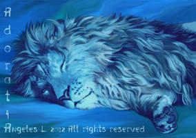 Blue Lion Asleep