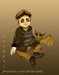 Baby disguised as Nosferatu (1922)