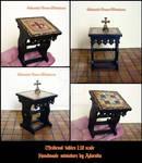 Dollhouse Medieval tables