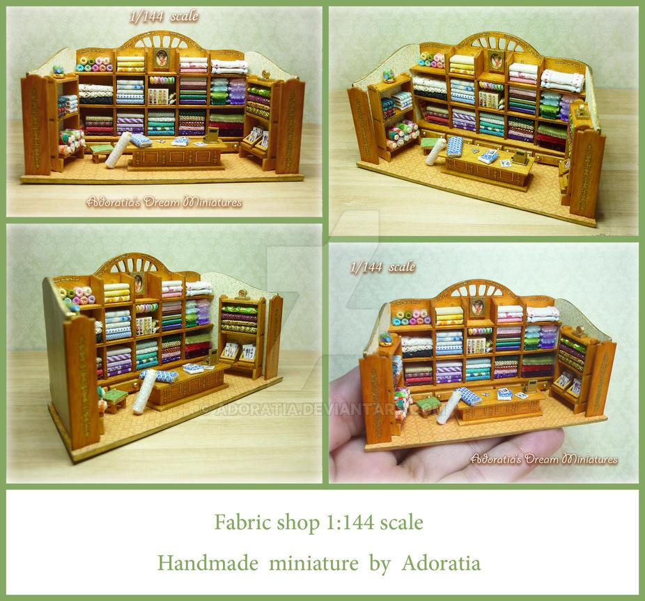 Fabric shop 1:144 scale, micro scale by Adoratia